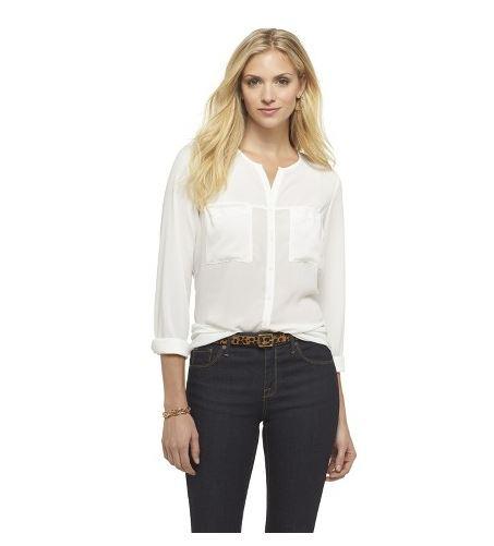 target long sleeved button down shirt